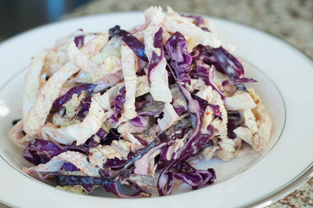 CABBAGE PATCH: Chef Ahki's spicy ancho chipotle slaw